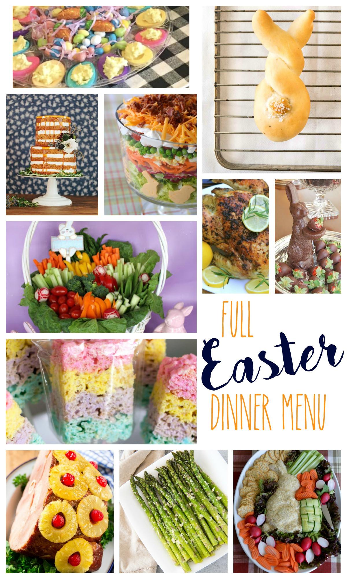 Easter Dinners Menu  Easter Dinner Menu 2018