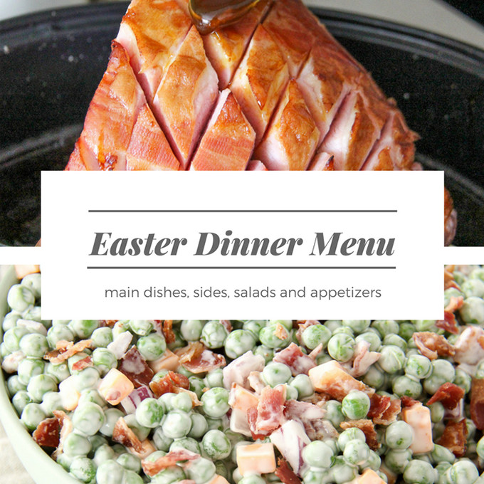 Easter Dinners Menu  Easter Dinner Menu A Pretty Life In The Suburbs