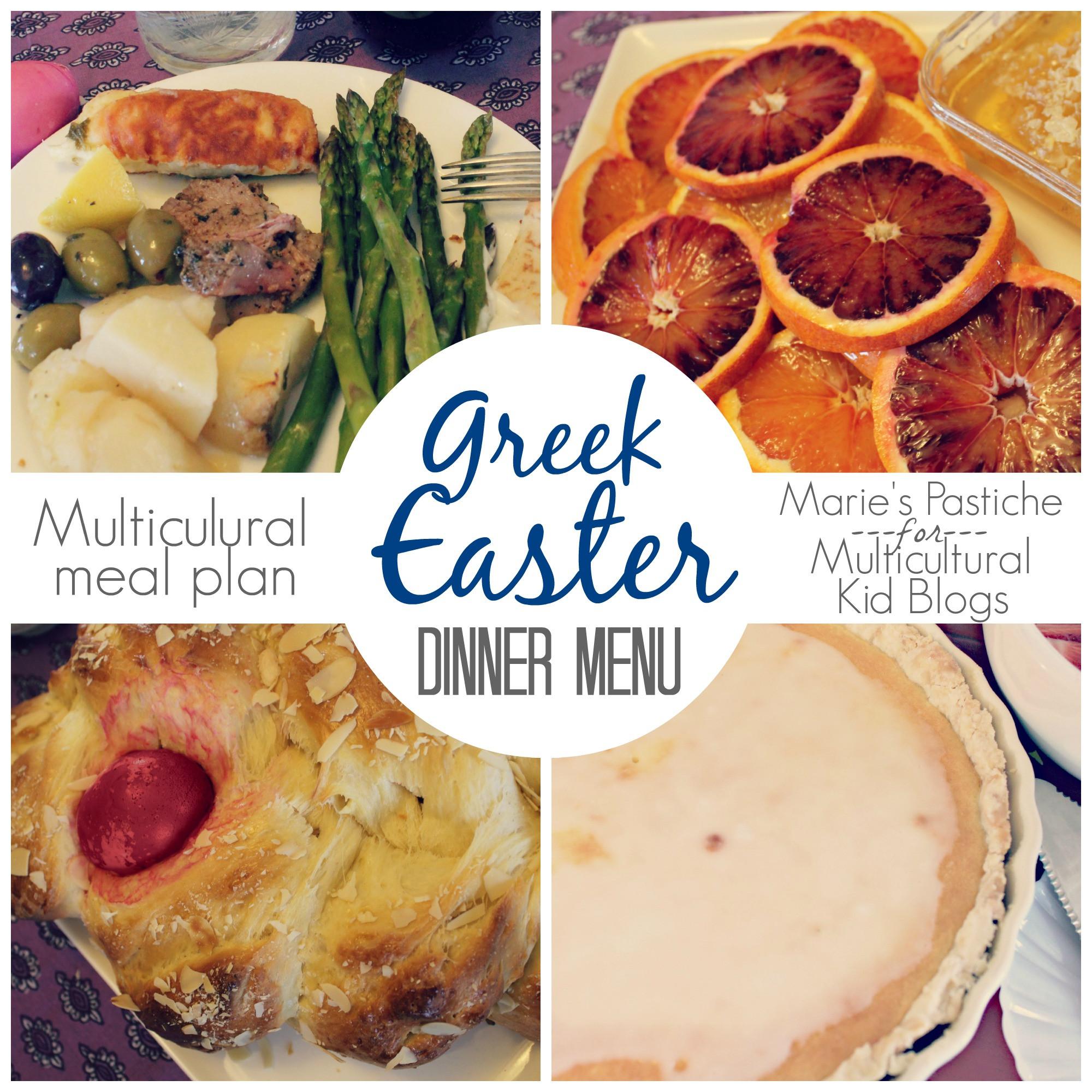 Easter Dinners Menu  Multicultural Meal Plan Greek Easter Menu Marie s