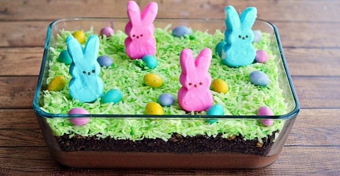 Easter Dirt Cake Recipe  EASTER BUNNY DIRT CAKE My Kitchen Magazine My Kitchen