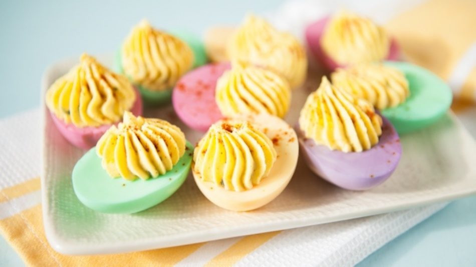 Easter Dyed Deviled Eggs  The 12 Easy Deviled Egg Recipes to Use with Leftover