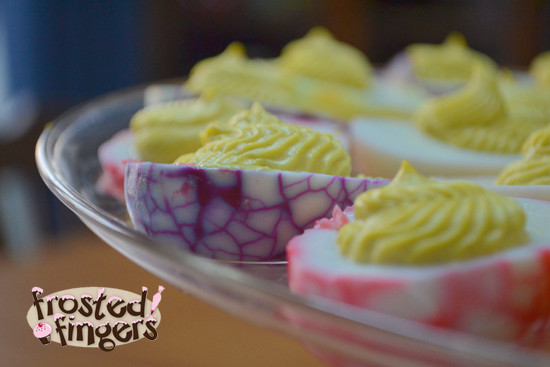 Easter Dyed Deviled Eggs  18 Plus Easy Easter Recipes and Menu Helps