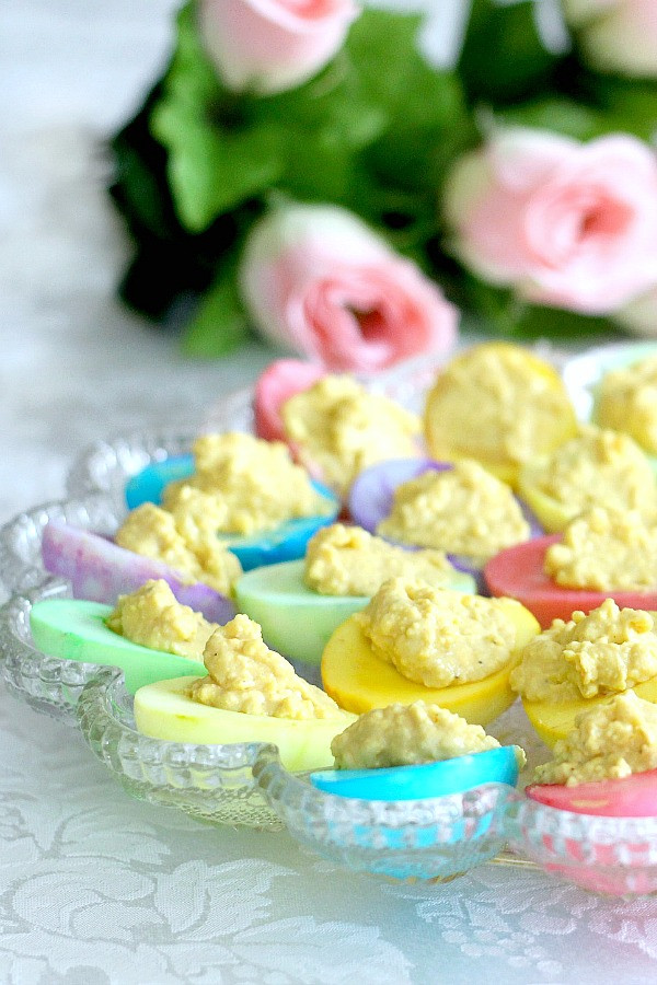 Easter Dyed Deviled Eggs  Colored Deviled Eggs for Easter