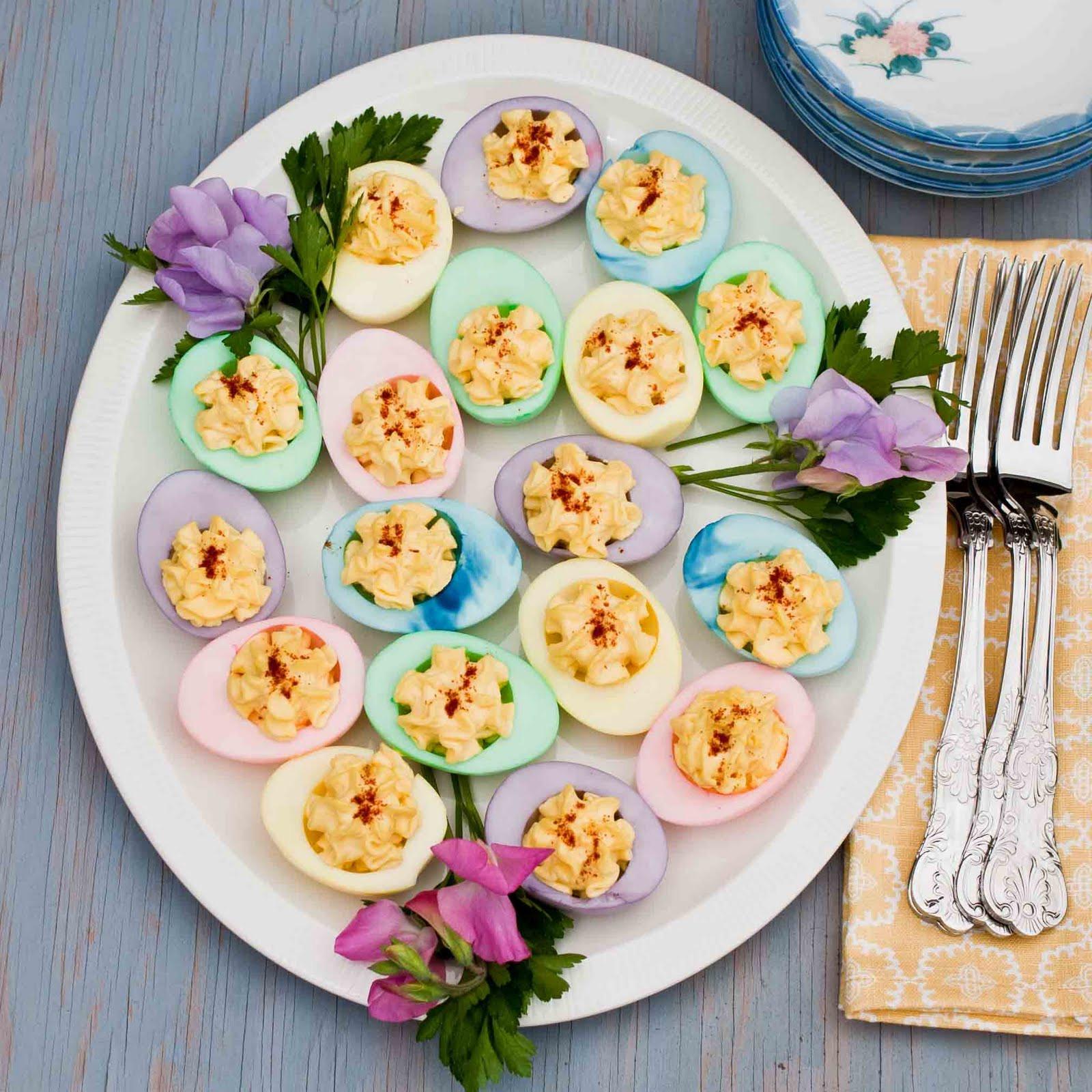 Easter Dyed Deviled Eggs  FOODjimoto Easter Eggs