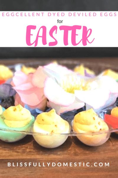 Easter Dyed Deviled Eggs  Eggcellent Dyed Deviled Eggs for Easter