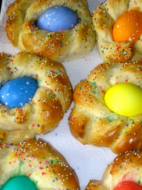 Easter Egg Bread Recipe  The Cultural Dish Buona Pasqua Happy Easter with Italian
