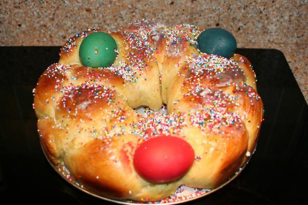 Easter Egg Bread Recipe  Tsoureki Greek Easter Bread Bread Machine Recipe Recipe