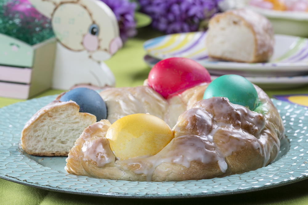 Easter Egg Bread  Easter Egg Bread
