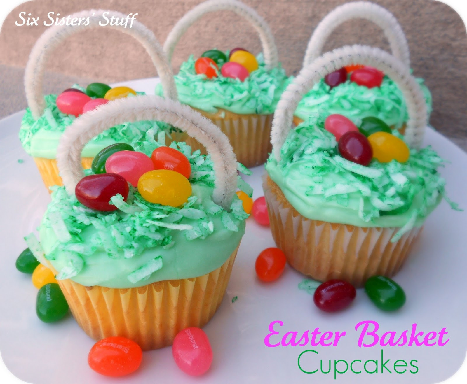 Easter Egg Cupcakes  Easter Egg Basket Cupcakes