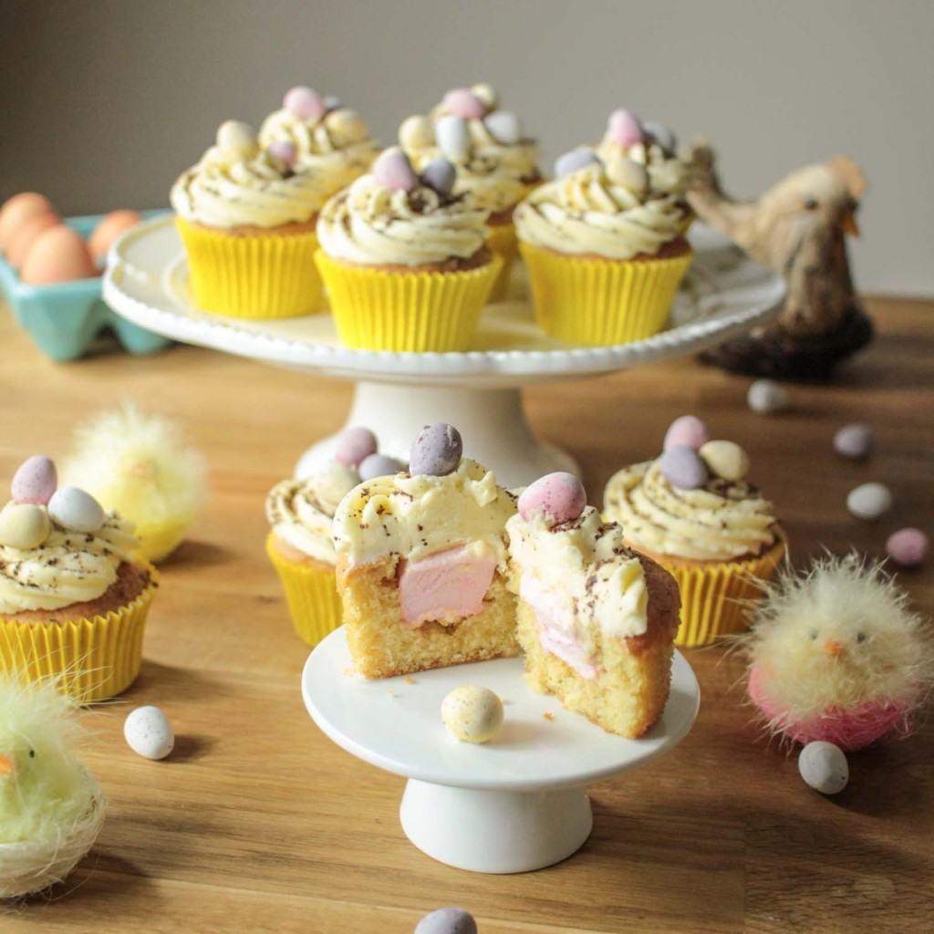 Easter Egg Cupcakes  Easter Surprise Mini Egg Cupcakes Recipe Globe Scoffers
