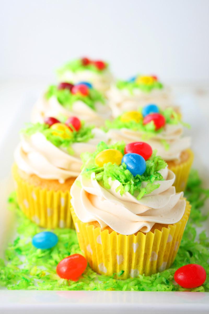Easter Egg Cupcakes  Easter Egg Cupcakes Mom Loves Baking