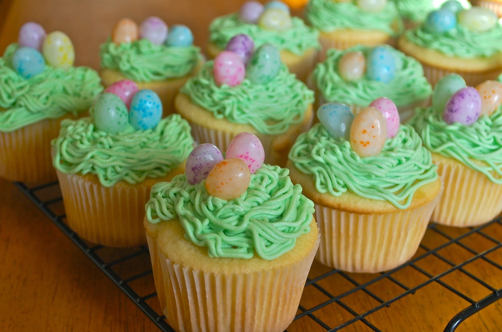Easter Egg Cupcakes  Chef Mommy Jelly Bean Easter Egg Cupcakes