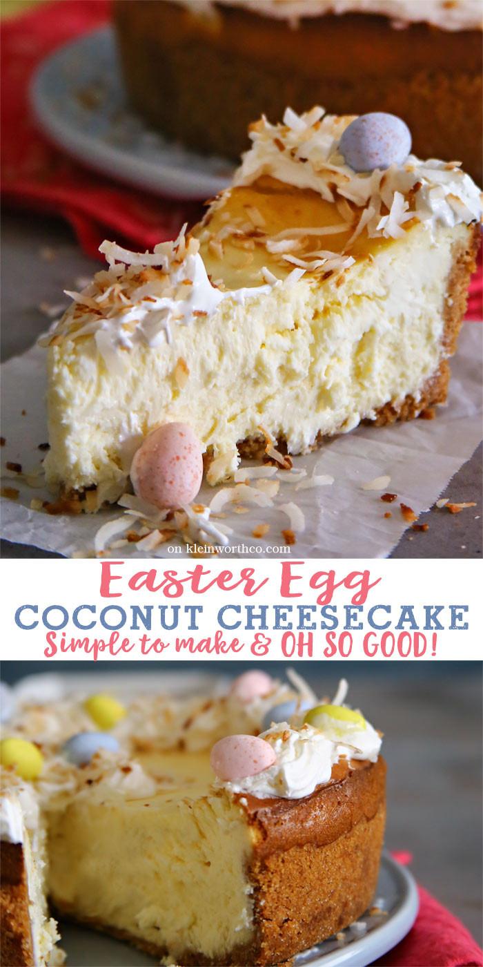 Easter Egg Desserts  Easter Egg Coconut Cheesecake Kleinworth & Co