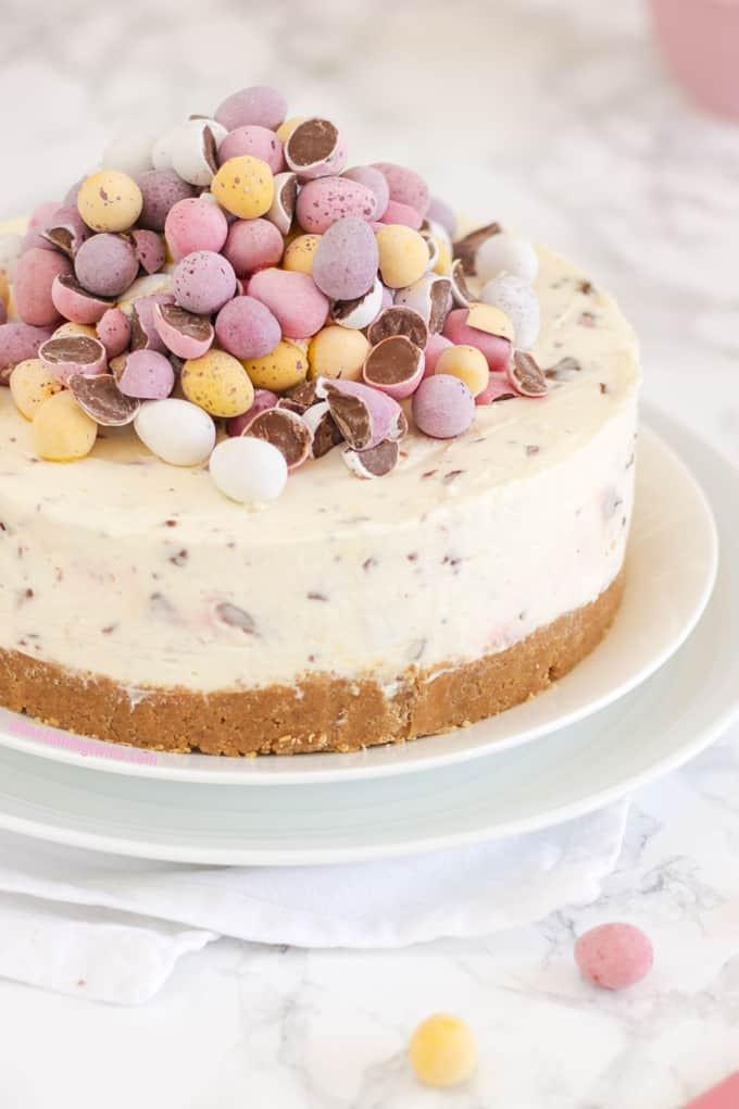 Easter Egg Desserts  No Bake Mini Egg Cheesecake Recipe Taming Twins