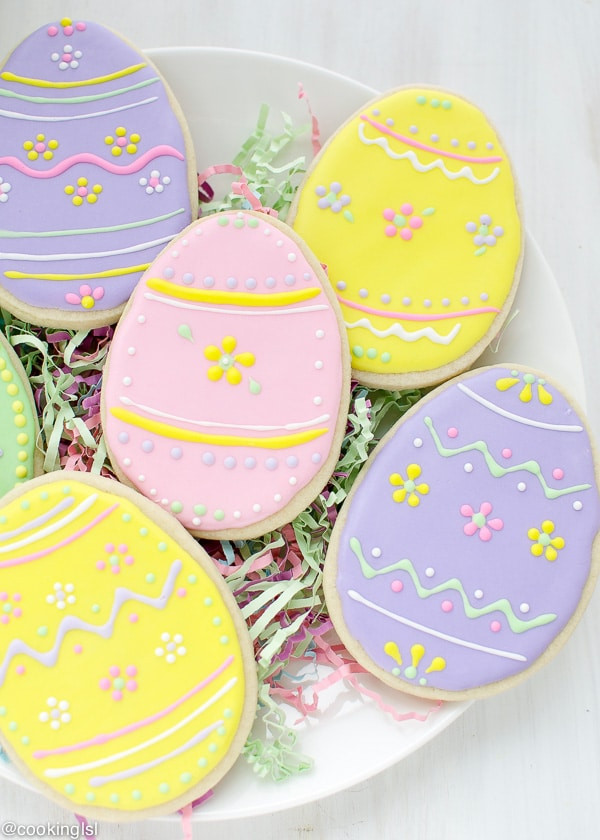 Easter Egg Sugar Cookies  Easter Egg Sugar Cookies With Royal Icing
