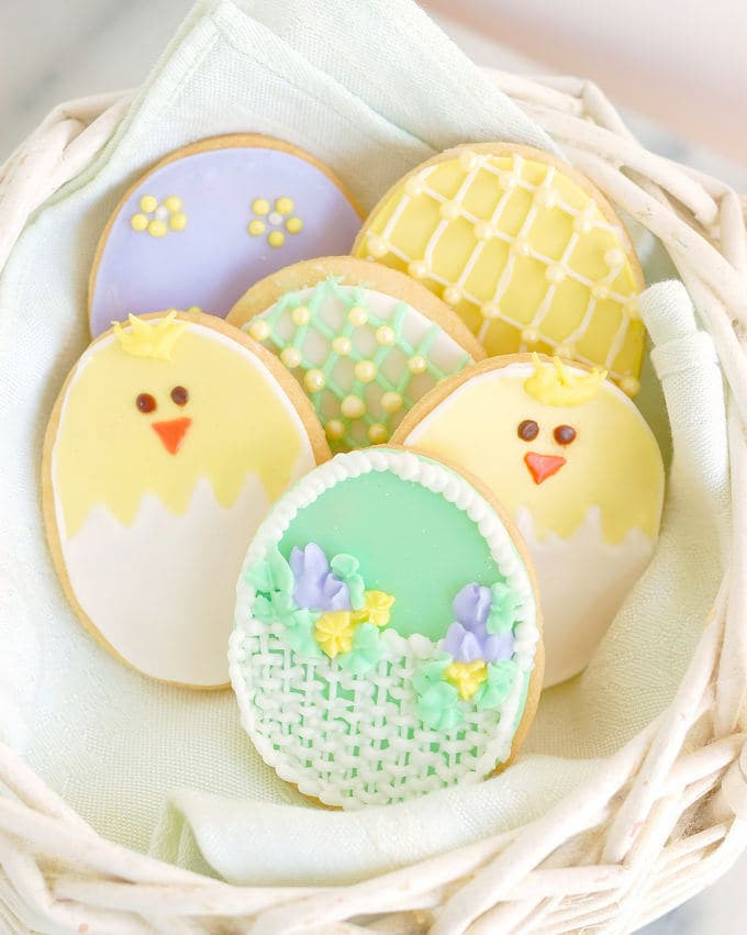Easter Egg Sugar Cookies  Decorated Sugar Cookies for Easter Baking Sense