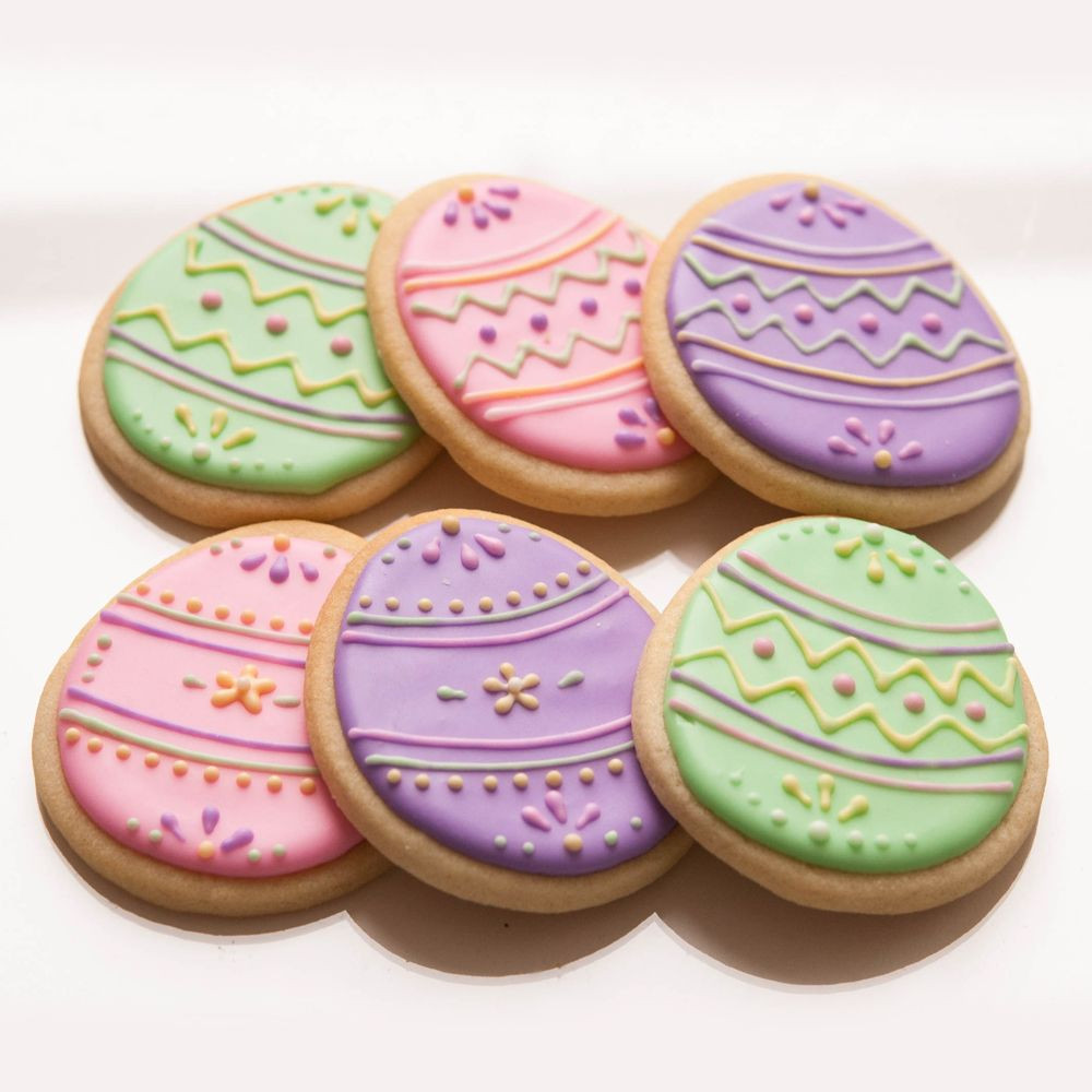 Easter Egg Sugar Cookies  Easter Egg sugar cookies Easter Cookies