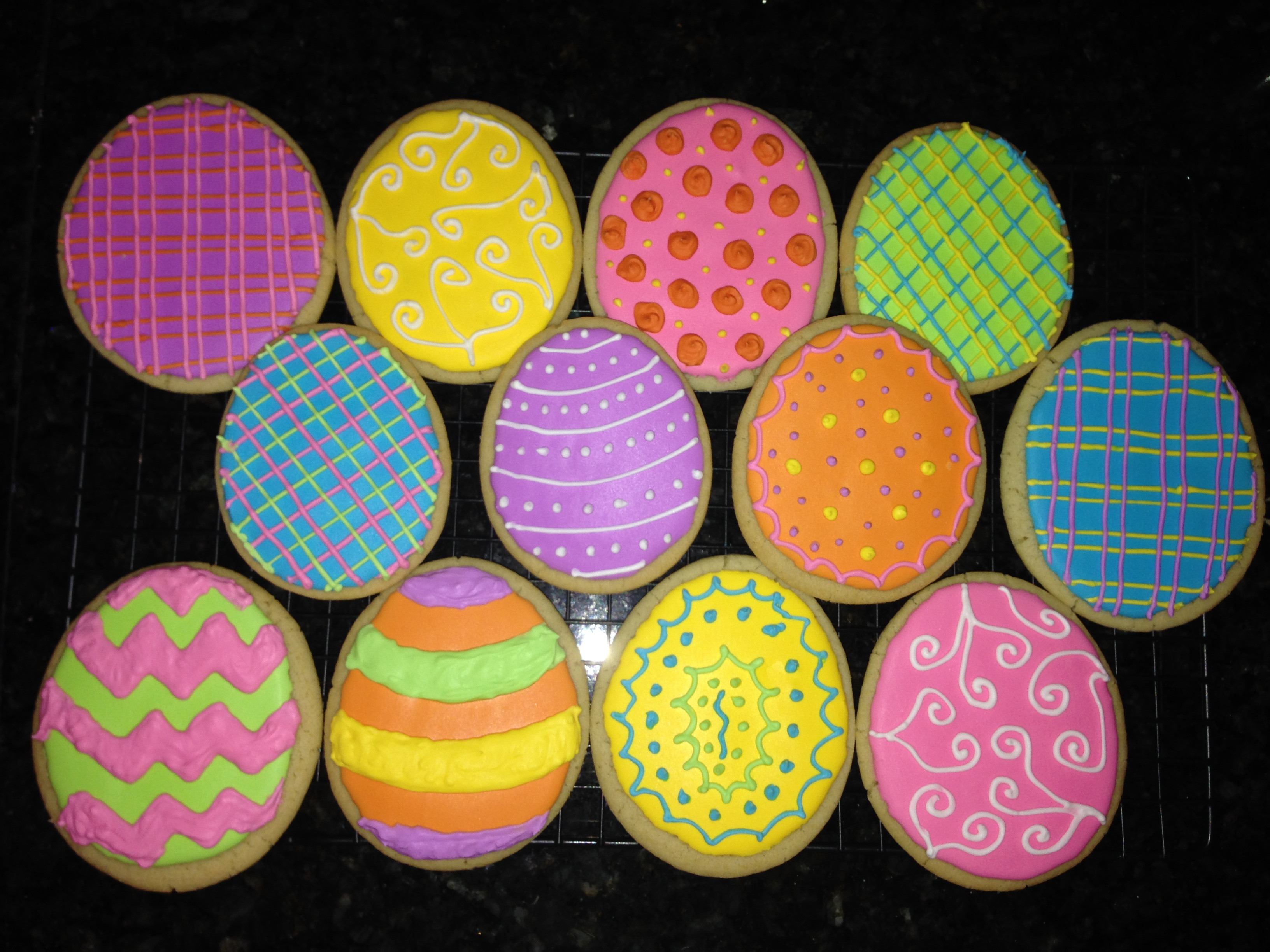 Easter Egg Sugar Cookies  Sugar Cookie Decorating