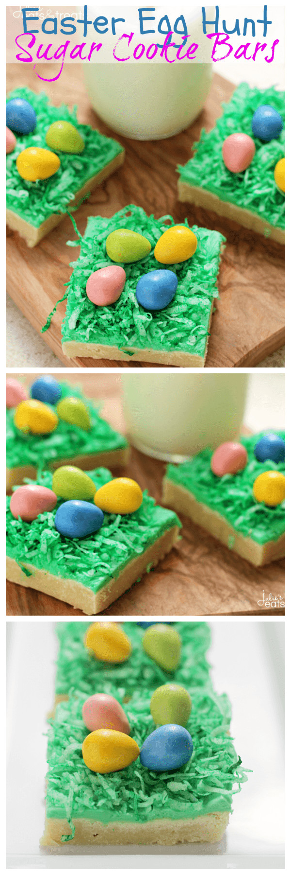 Easter Egg Sugar Cookies  Easter Egg Hunt Sugar Cookie Bars s and