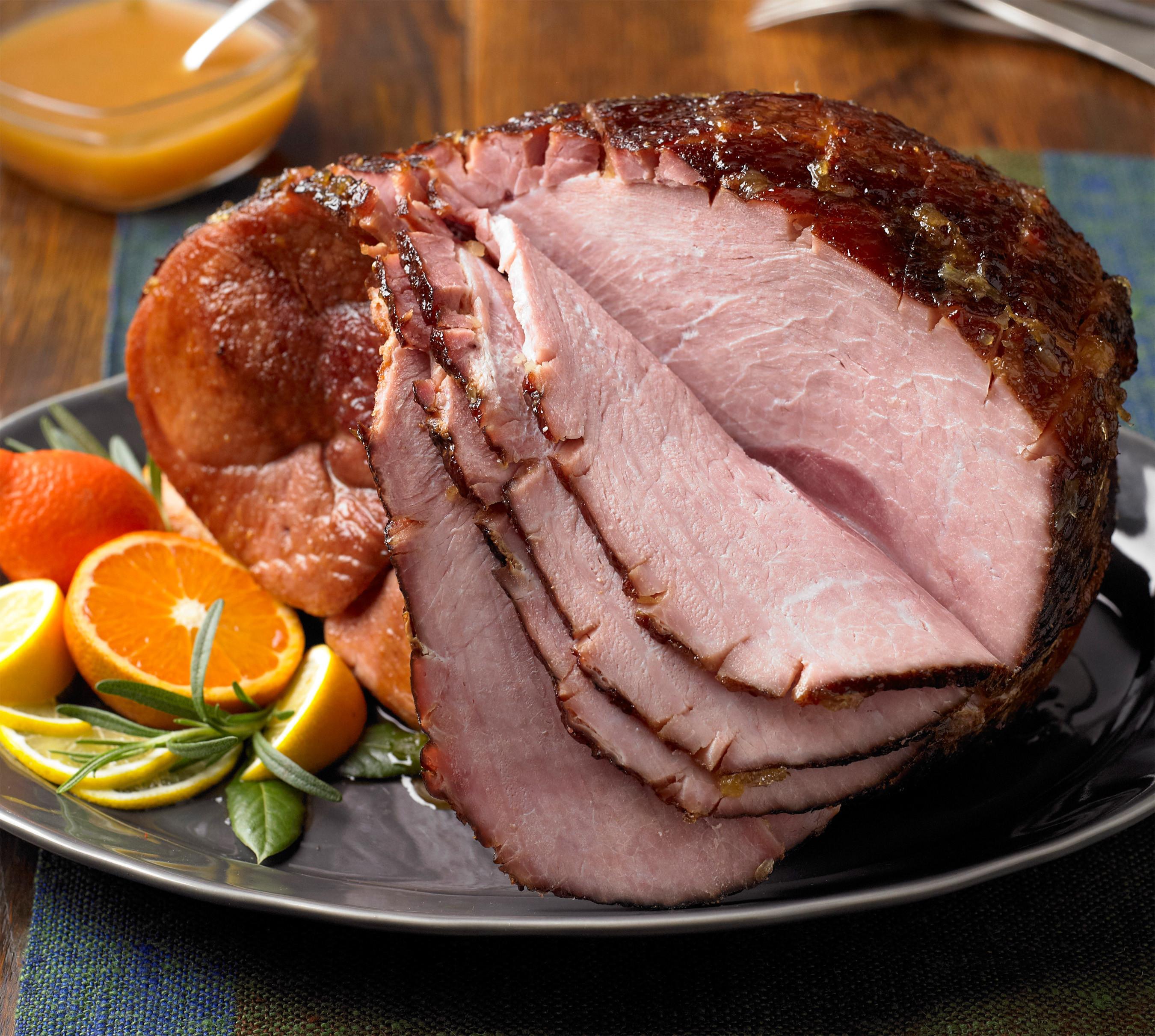 Easter Ham Recipe  Spiced Grilled Ham with Citrus Glaze Pork Recipes Pork