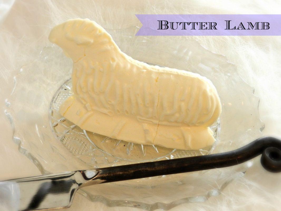Easter Lamb Butter Mold  Easter Brunch Table Ideas
