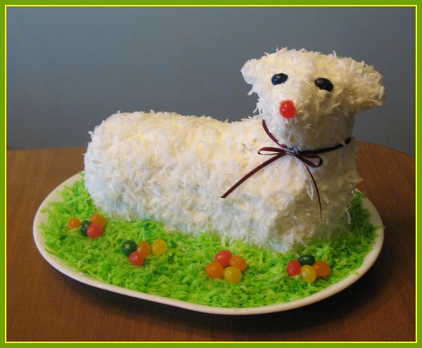 Easter Lamb Cake Recipe  sas&sabs Easter