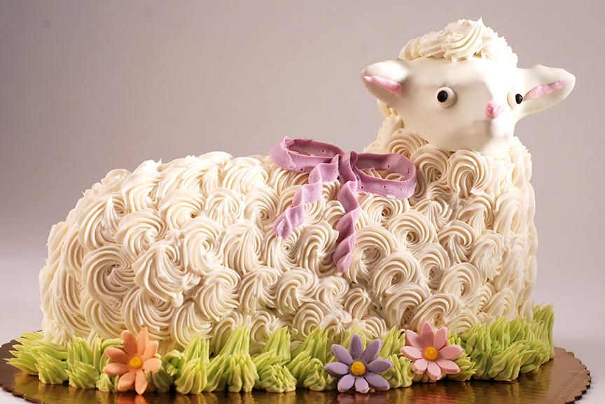 Easter Lamb Cake Recipe  Chicago Bakery Wholesale and Retail Scones Poppies Dough