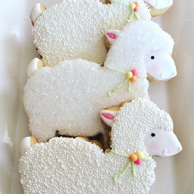 Easter Lamb Decorations  Lamb cookies flourbatchcustomcookies