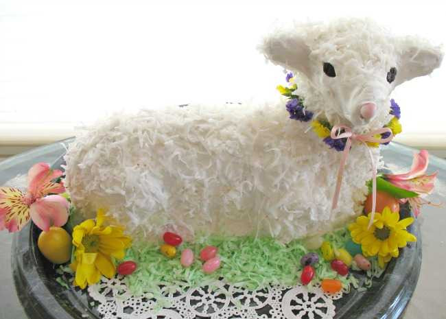 Easter Lamb Decorations  Easter s Sweeter With Lamb Bunny & Easter Basket Cakes
