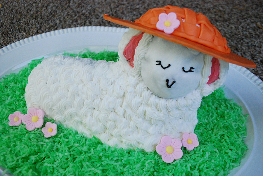 Easter Lamb Decorations  Make an Edible Easter Bonnet for a Lamb Cake Merriment