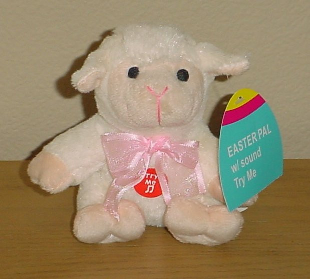 Easter Lamb Stuffed Animal  TALKING PLUSH TOY Mini Easter Stuffed Animal BABY LAMB