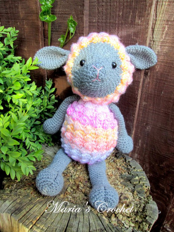 Easter Lamb Stuffed Animal  Amigurumi Lamb Easter Lamb Amigurumi Toys Crochet Toys