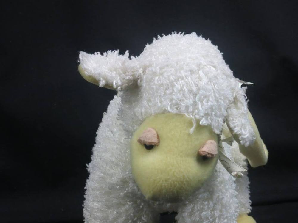 Easter Lamb Stuffed Animal  LAMB OF GOD SHEEP EASTER PURSE CREAM YELLOW ADORABLE PLUSH