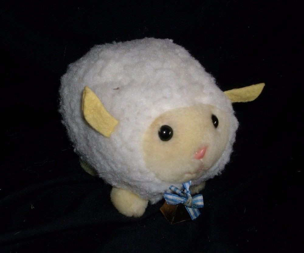"Easter Lamb Stuffed Animal  5"" VINTAGE EDEN BABY WHITE LAMB SHEEP EASTER STUFFED"