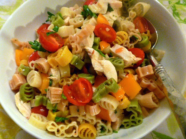 Easter Pasta Salad  Slice of Southern Lynn s Chicken Pasta Salad An Easter