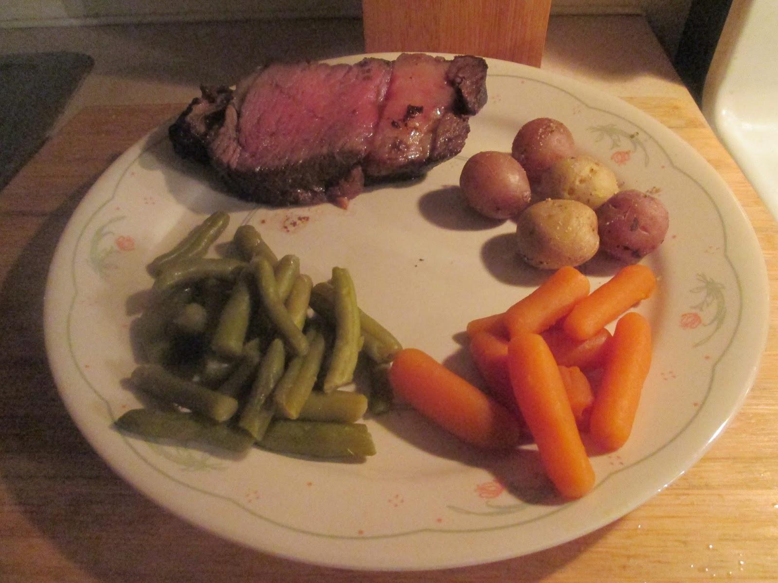 Easter Prime Rib Dinner  Diab2Cook Prime Rib w Savory Herb Potatoes Cut Green