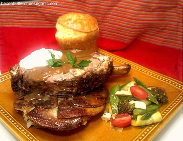 Easter Prime Rib Dinner  Bacon Butter Cheese & Garlic Elegant Easter Dinner