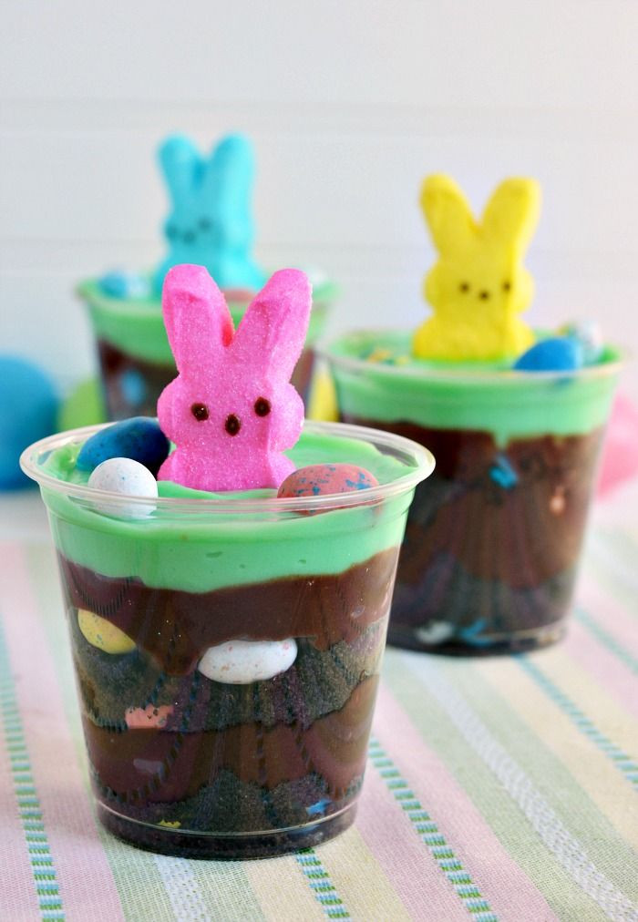 Easter Pudding Desserts  Bring your Easter Egg Hunt indoors with this Easter Egg