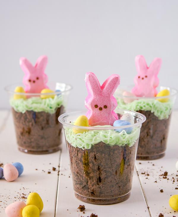 Easter Pudding Desserts  Bunny Dirt Cups Dessertweek