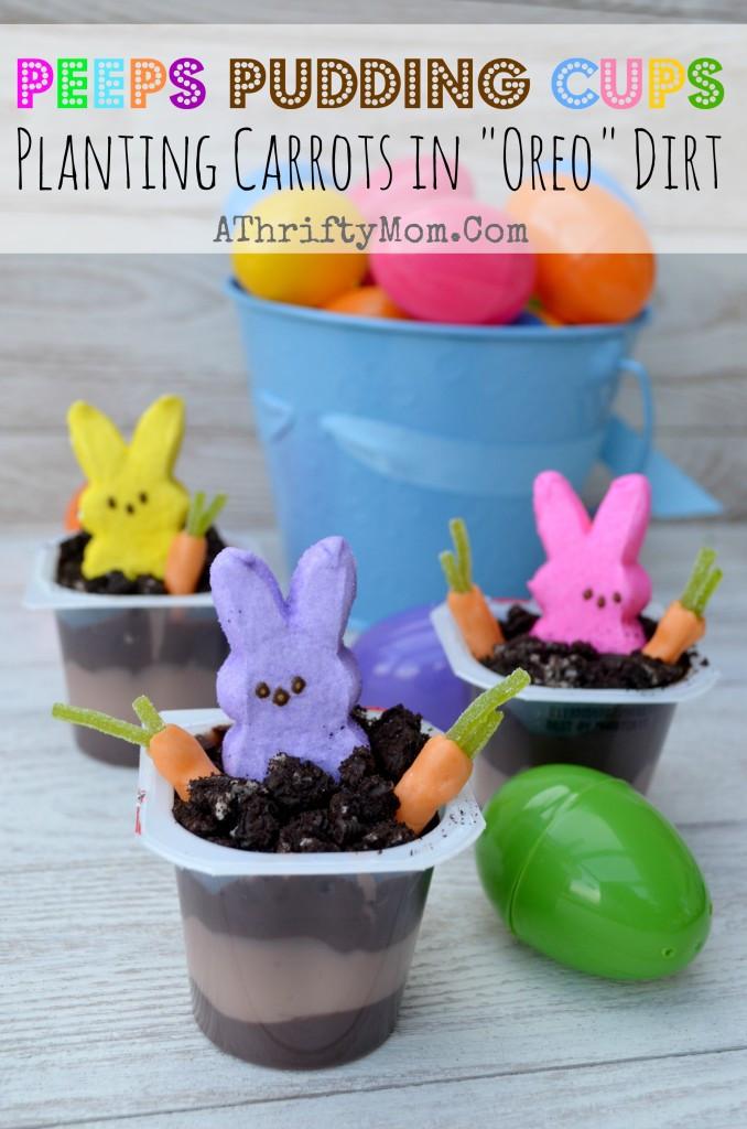 Easter Pudding Desserts  Peep Peep Creative ways to use Peeps this Easter