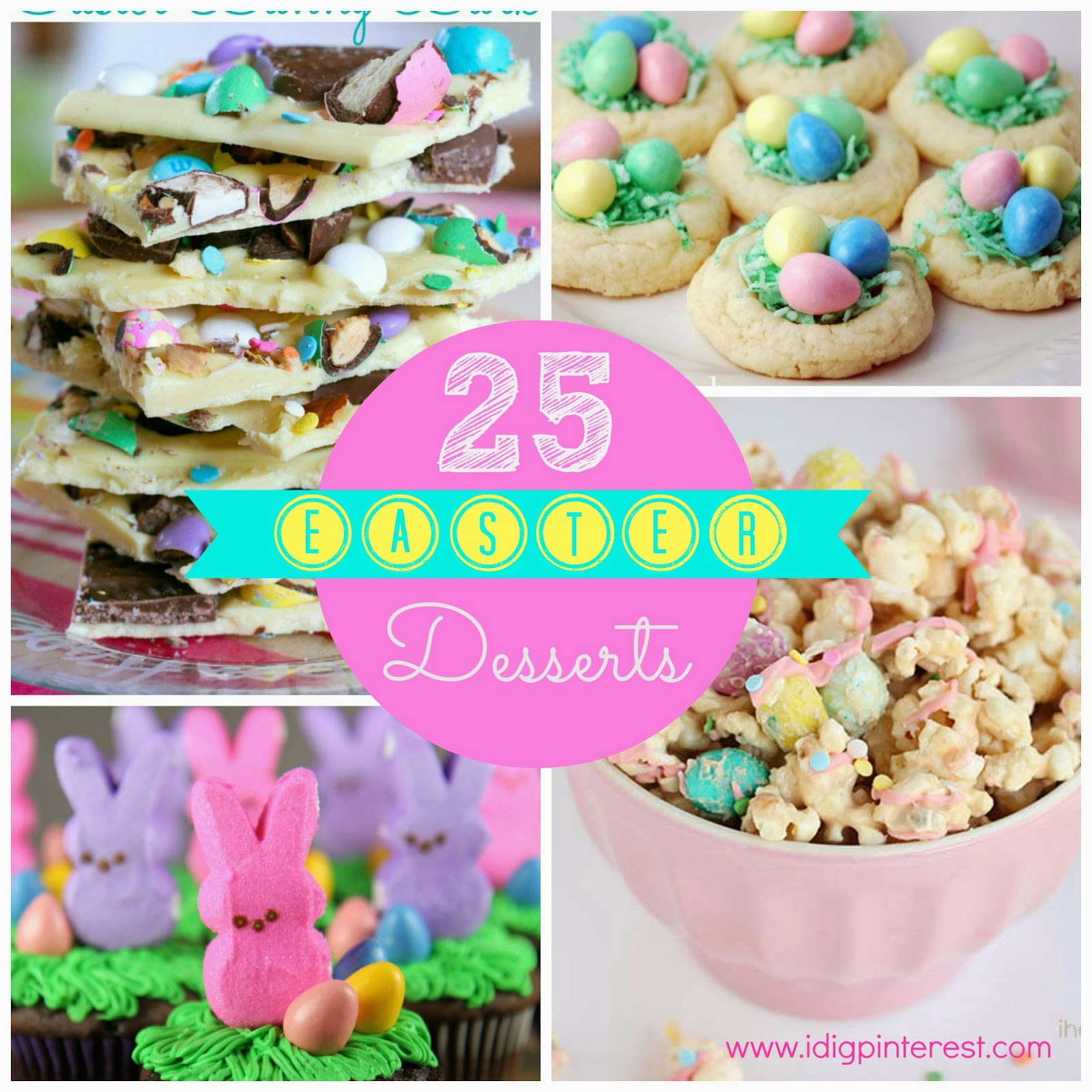 Easter Recipes Dessert  25 Pretty & Yummy Easter Desserts I Dig Pinterest