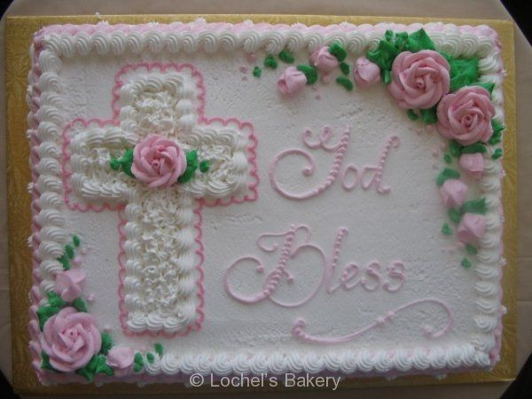 Easter Sheet Cake Ideas  sheet cake with hand drawn cross