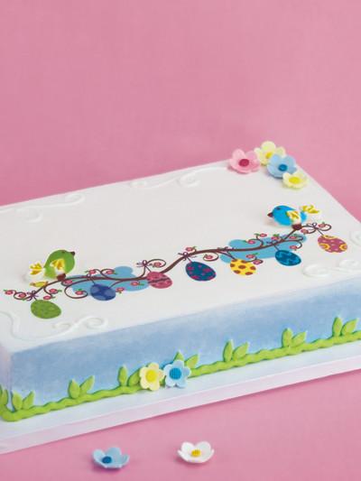 Easter Sheet Cake Ideas  Decorating Idea Easter Birds of Fancy Sheet Cake