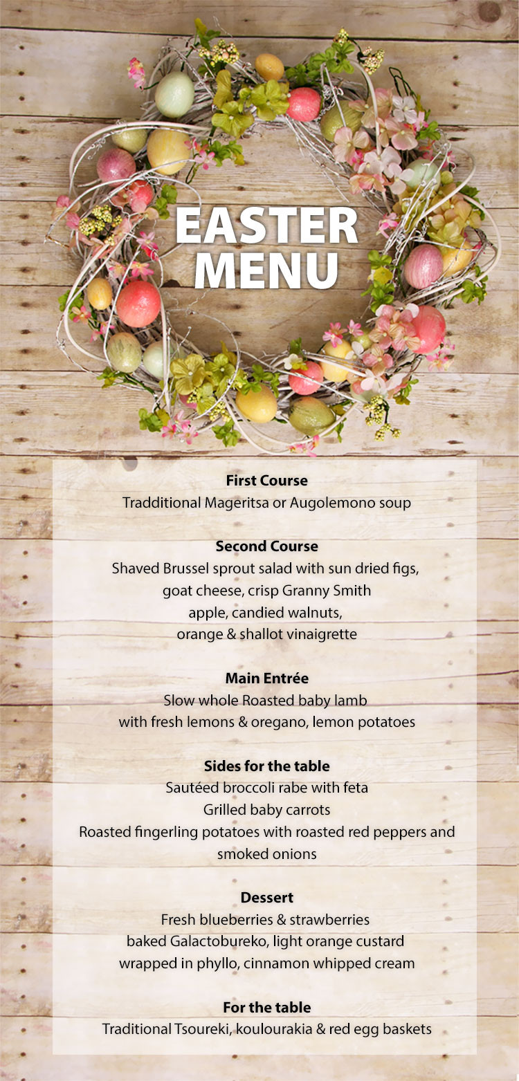 Easter Sunday Dinner Menu  Easter Menu 2015 Ammos Estiatorio