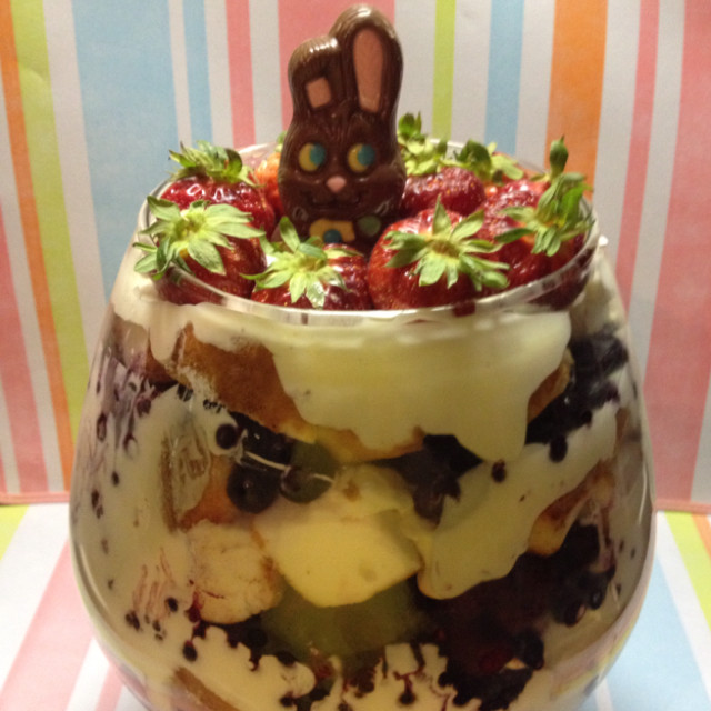 Easter Trifle Desserts  Triple Berry Easter Trifle Recipe Food Easter – Erica R