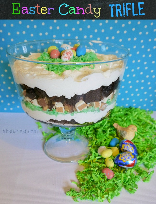Easter Trifle Desserts  HERSHEY S Easter Candy Basket Ideas a Brownie Trifle