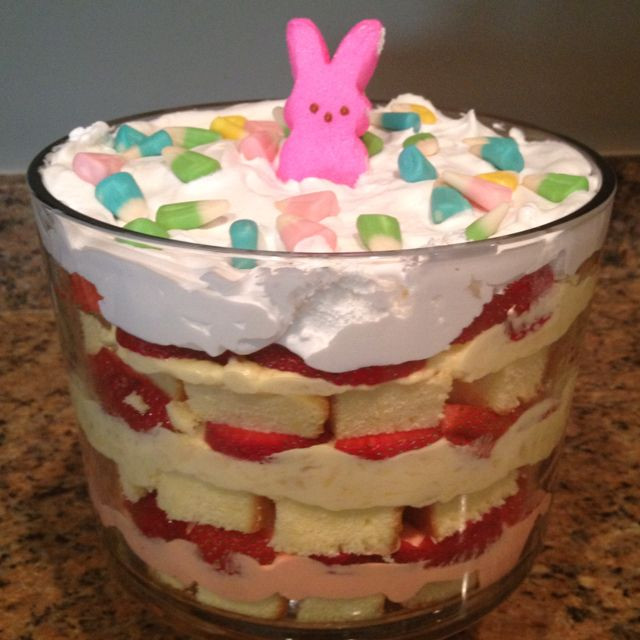 Easter Trifle Desserts top 20 Easter Trifle Holiday Easter Pinterest