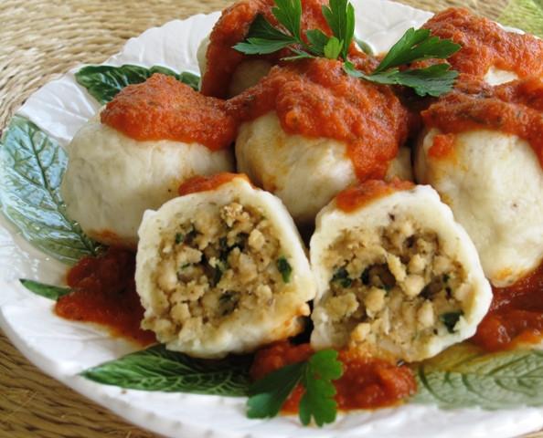Eastern European Dumplings  Meatballs In A Blanket Stuffed Knedle Dumplings