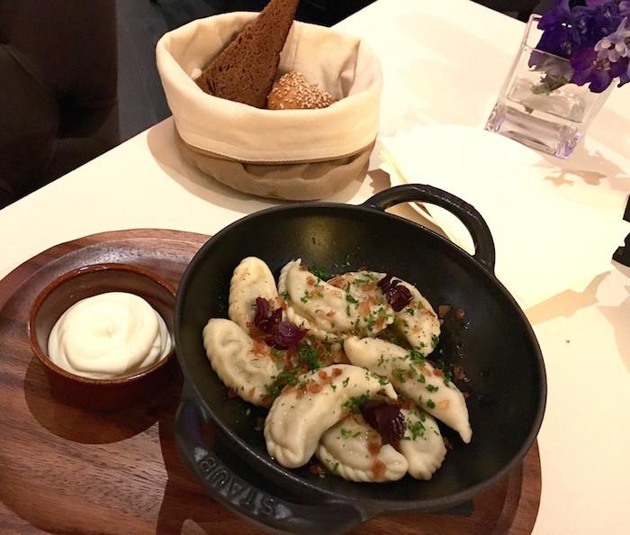 Eastern European Dumplings  Vesna chic Eastern European cuisine at Conrad Hotel