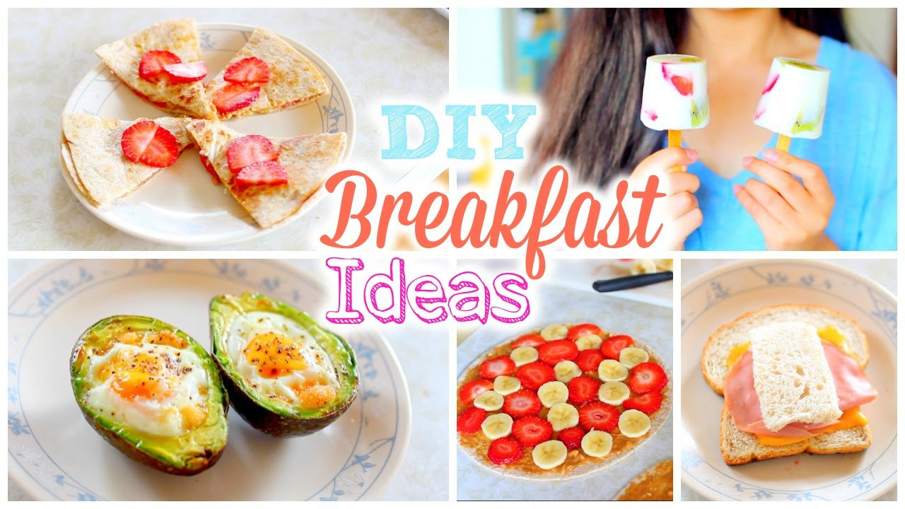 Easy And Healthy Breakfast Recipes  DIY Easy and Quick Back to School Breakfast Ideas